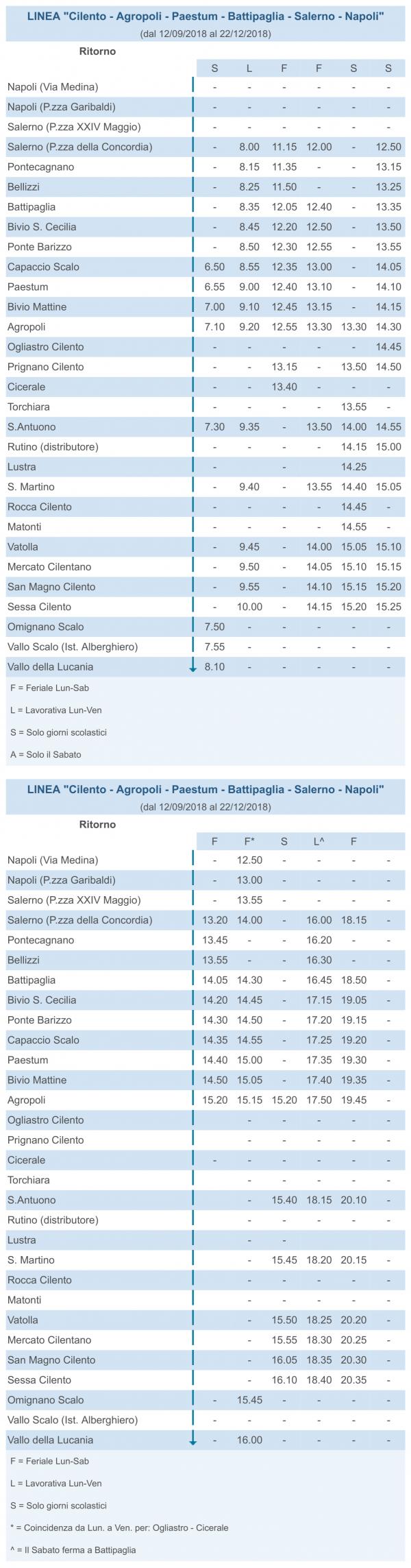 autobus - _Cilento - Agropoli - Paestum - Battipaglia - Salerno - Napoli ritorno