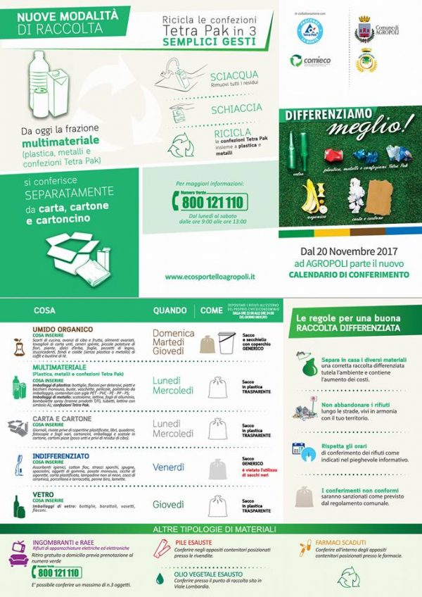 calendario di conferimento dei rifiuti agropoli
