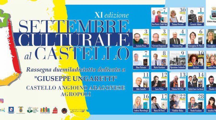 XI edizione del Settembre Culturale di Agropoli – Venerdì 7 Settembre 2018